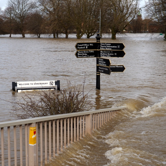 Shrewsbury Floods - February 20